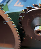 Machine cutting teeth. Cutters woodworking machines of various shapes Stock Photography