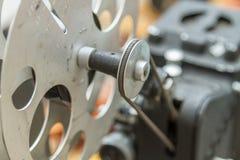 Machine d'édition de film de vintage Images stock