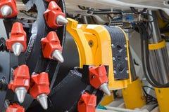 Machine d'abattage - détail images stock