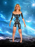 Machine d'Android de cyborg de robot de femme Image stock