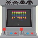 Machine d'arcade d'envahisseurs Images stock