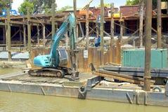 Machine d'excavatrice Images stock