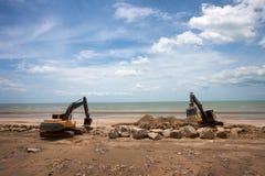 Machine d'excavatrice Image libre de droits