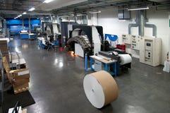 Machine d'impression : presse rotatif digital images stock