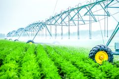machine d'irrigation d'agriculture images libres de droits