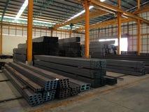 Machine dans l'entrepôt en acier Photographie stock