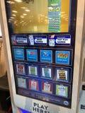 Machine de billet de loterie photographie stock