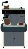 Machine de café de bureau Images libres de droits