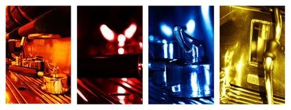 Machine de café de collage image stock