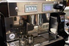 Machine de café Préparation d'expresso Boisson de matin Images libres de droits