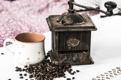Machine de café de vintage Photos libres de droits