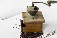 Machine de café de vintage Images stock