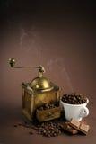 Machine de café d'antiquité Photo stock
