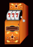Machine de casino Photographie stock libre de droits