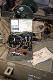 Machine de code Morse de WW II - verticale Photographie stock libre de droits
