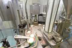Machine de conditionnement de laiterie Photos stock