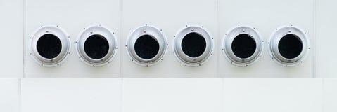 Machine de construction arrondie de climatiseur de ventilation d'air photographie stock