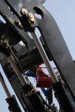 machine de construction de grondement Images libres de droits