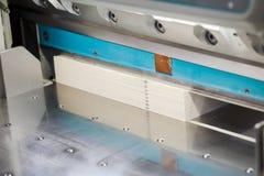 Machine de coupe de papier Image libre de droits