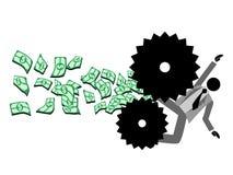 Machine de faillite illustration de vecteur