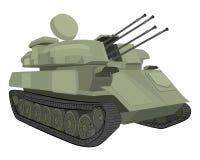 Machine de guerre illustration de dessin de réservoir illustration de vecteur
