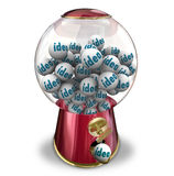 Machine de Gumball d'idées créativité d'imagination de beaucoup de pensées Images stock