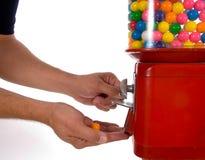 Machine de gumball de cru Photographie stock libre de droits