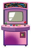 Machine de jeu électronique dans la boîte pourpre Photographie stock libre de droits
