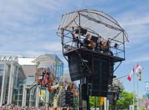 Machine de La à Ottawa, Canada 2017 - musiciens Image libre de droits