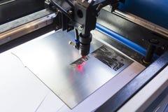 Machine de laser photo libre de droits