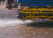 Machine de nettoyage de rue Photo stock