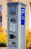 Machine de paiement de stationnement Photo stock