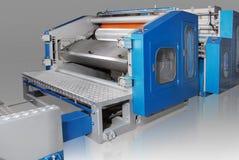 Machine de papier de soie de soie d'isolement sur le fond blanc photographie stock libre de droits