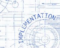 Machine de papier de graphique d'exécution illustration de vecteur
