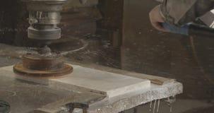 Machine de polonais Granit en pierre de marbre polonais clips vidéos
