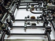Machine de presse typographique images stock