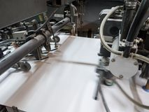 Machine de presse typographique photo stock