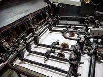 Machine de presse typographique photographie stock