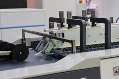 Machine de production de label de Digital photographie stock