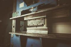 Machine de recourbement en métal Photographie stock libre de droits