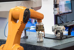 Machine de robot industriel image stock