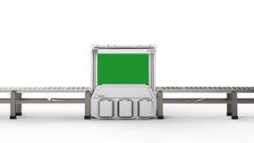 Machine de scanner avec la bande de conveyeur vide Photo stock