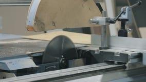 Machine de scie en bois de commande numérique par ordinateur banque de vidéos