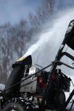 Machine de soufflement de neige Photographie stock