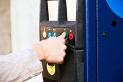 Machine de stationnement Image stock