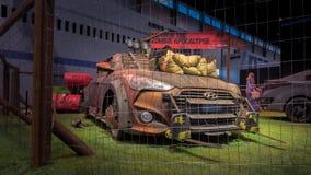 Machine 2014 de survie de zombi de Hyundai Veloster Turbo ZSM photos stock