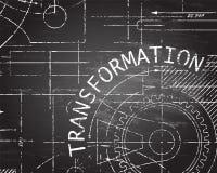 Machine de tableau noir de transformation Images libres de droits
