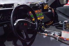 Machine 1981 de temps de Delorean DMC-12 d'argent Images stock