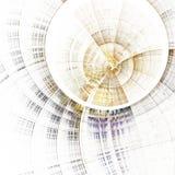 Machine de temps de fractale d'or, illustration numérique Images stock