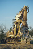 Machine of demolition Stock Photography